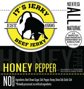It's Jerky Honey Pepper Flavored
