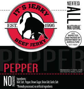 It's Jerky Pepper Flavored